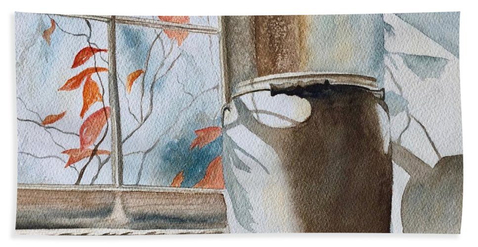 Winter Bath Sheet featuring the painting Winter Sun by Lyn DeLano