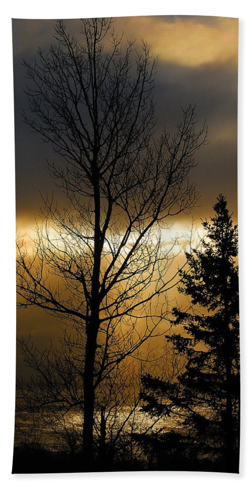 Nature Bath Sheet featuring the photograph Winter Sunrise 2 by Sebastian Musial