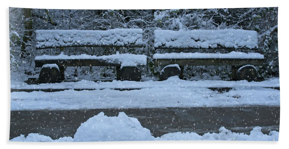 Snow Bath Sheet featuring the photograph Winter Time by Rawshutterbug