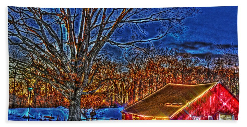 Country Hand Towel featuring the photograph Winter Wonderland Hdr by September Stone