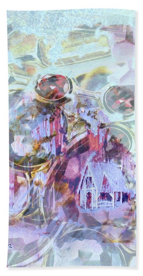 Winter Wind Hand Towel featuring the digital art Winters Blast by Seth Weaver