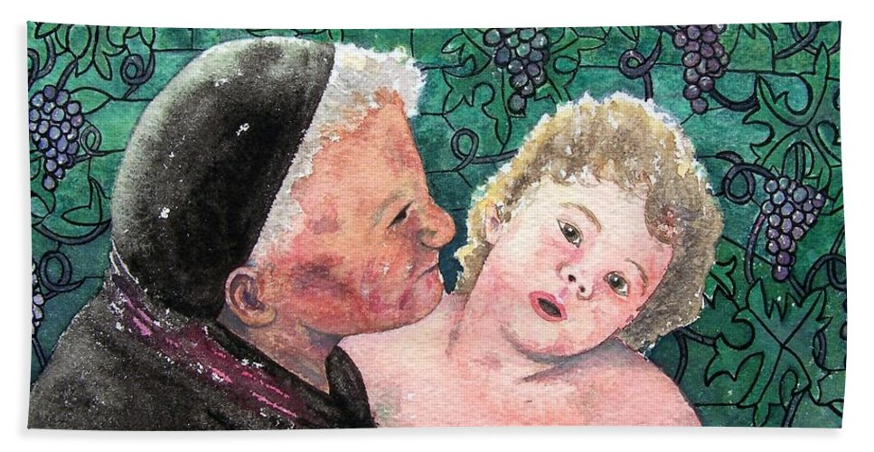 Child Bath Towel featuring the painting Wisdom And Innocence by Gale Cochran-Smith