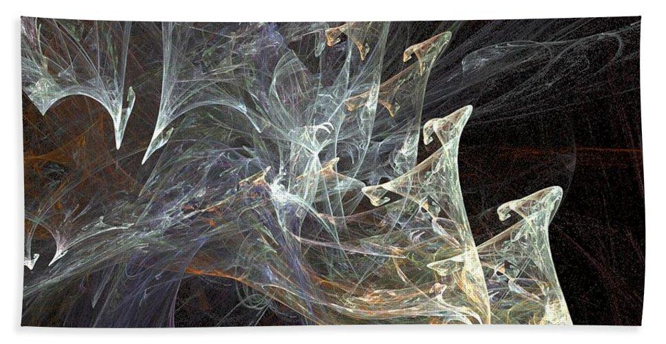 Smoke Bath Sheet featuring the digital art Wisps by Ron Bissett