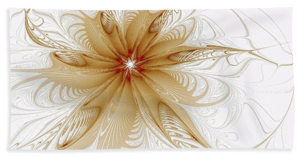 Digital Art Hand Towel featuring the digital art Wispy by Amanda Moore