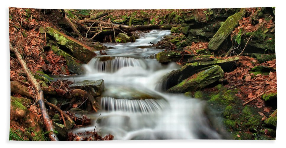 Columbia Gorge Bath Sheet featuring the photograph Wolf Run 1 by Ingrid Smith-Johnsen