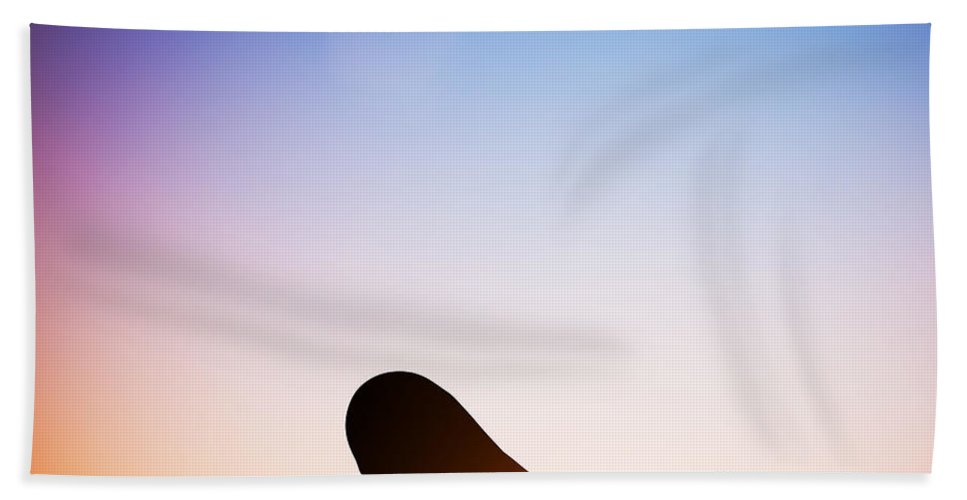 Yoga Bath Sheet featuring the photograph Woman In Plow Yoga Pose Meditating At Sunset by Michal Bednarek