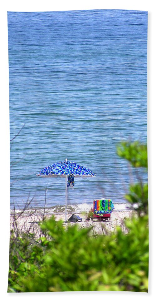 Beachgoer Hand Towel featuring the photograph Woman On The Beach by Charles Harden