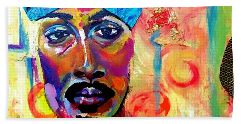 Man Hand Towel featuring the painting Wonder by EstePlosion