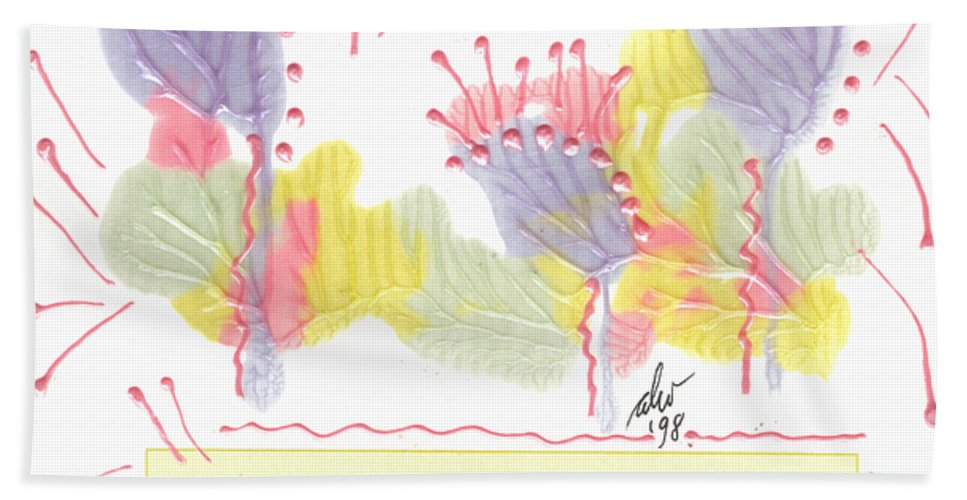 Greeting Cards Bath Sheet featuring the painting Wonderfully Carefree by Angela L Walker