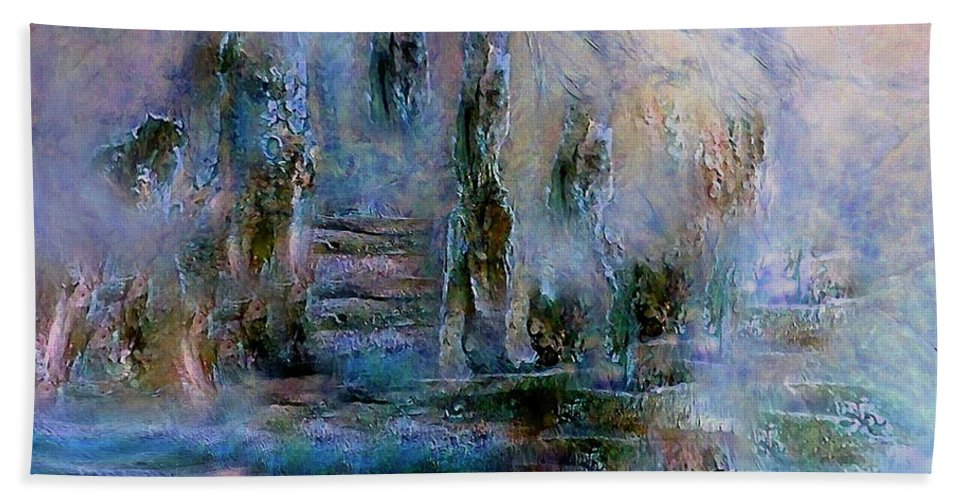 Wood Hand Towel featuring the digital art Wood Art Lost In Time by Sherri's - Of Palm Springs