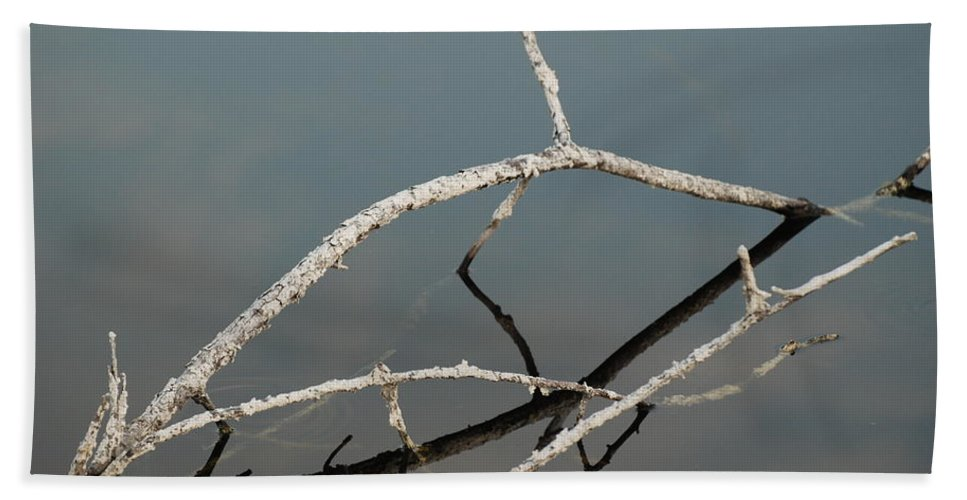 Blue Hand Towel featuring the photograph Wood In The Water by Rob Hans