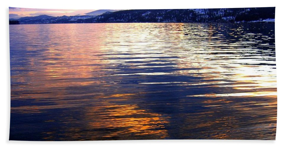Wood Lake Hand Towel featuring the photograph Wood Lake Reflections by Will Borden