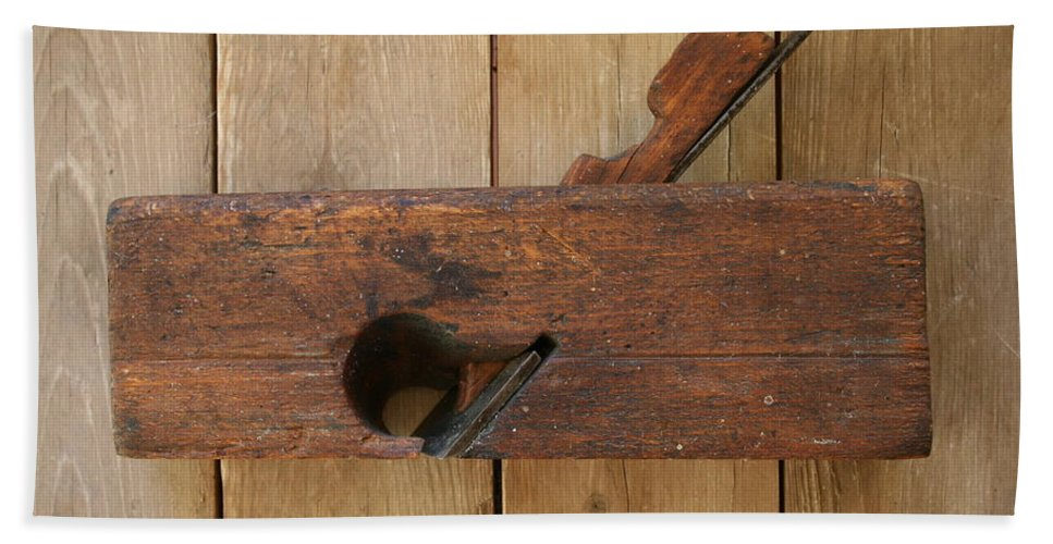 Tool Bath Sheet featuring the photograph Wood Plane 3 by Marna Edwards Flavell