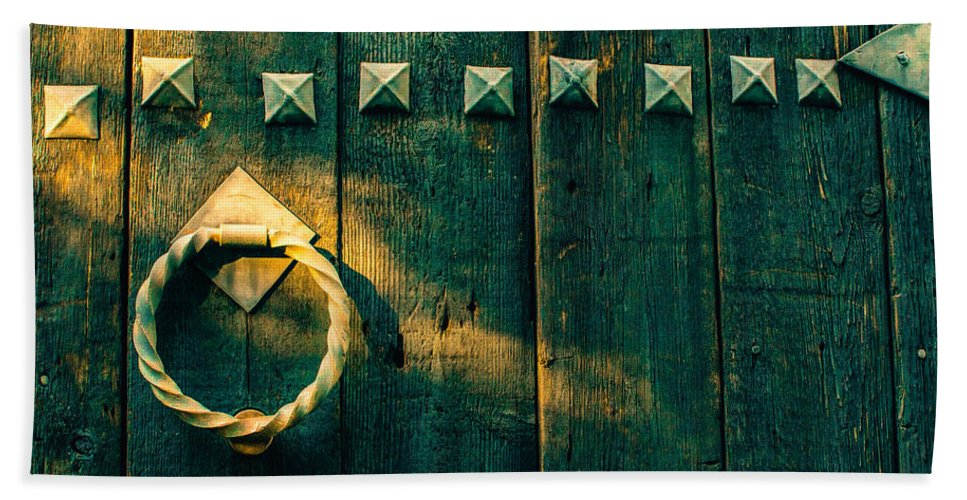 Wooden Door Hand Towel featuring the photograph Wooden Door by Totto Ponce