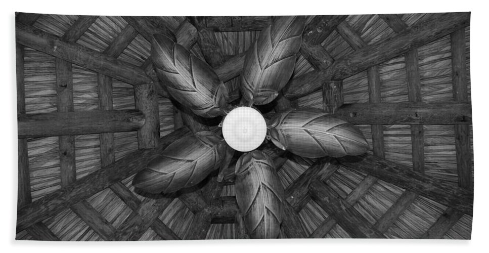 Fan Bath Towel featuring the photograph Wooden Fan by Rob Hans