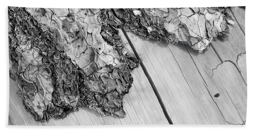 Wood Bath Sheet featuring the photograph Wooden Wave by Donna Blackhall