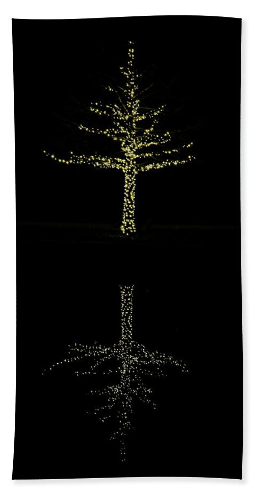 Art Hand Towel featuring the photograph Woodlands Waterway 1 Tree by Judy Vincent