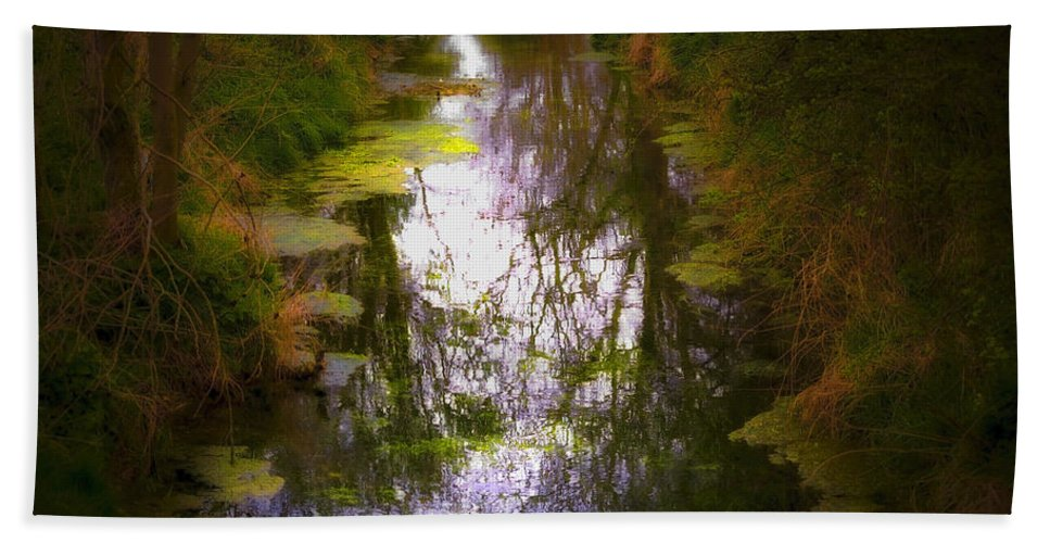 Woods Hand Towel featuring the photograph Woods by Svetlana Sewell