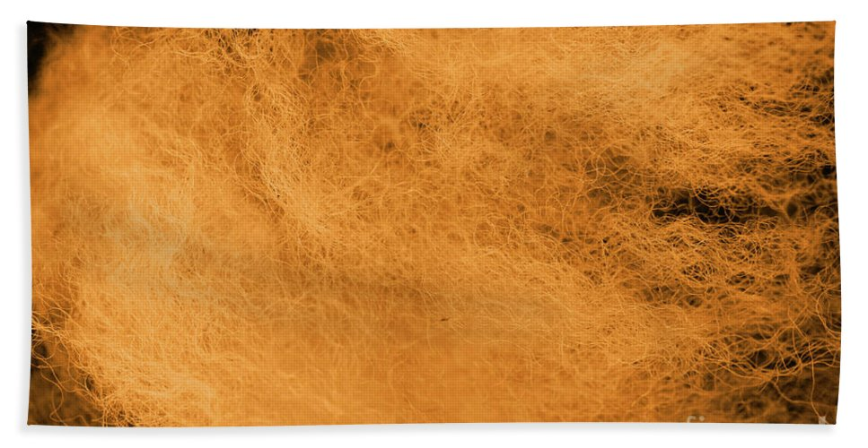 Abstract Hand Towel featuring the photograph Wool Orange by Eddie Barron