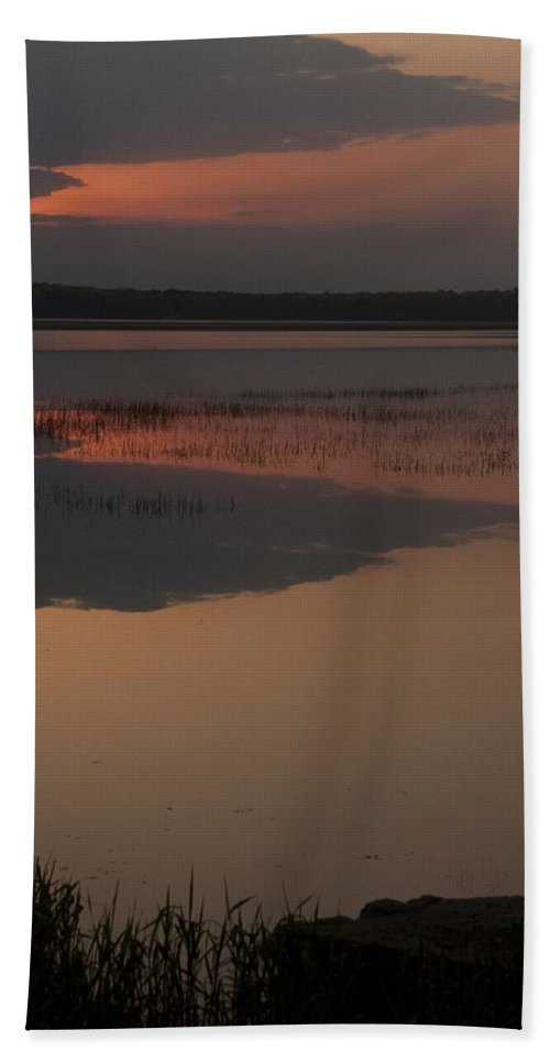 Sunrise Bath Sheet featuring the photograph Worden's Pond Sunrise 1 by Steven Natanson
