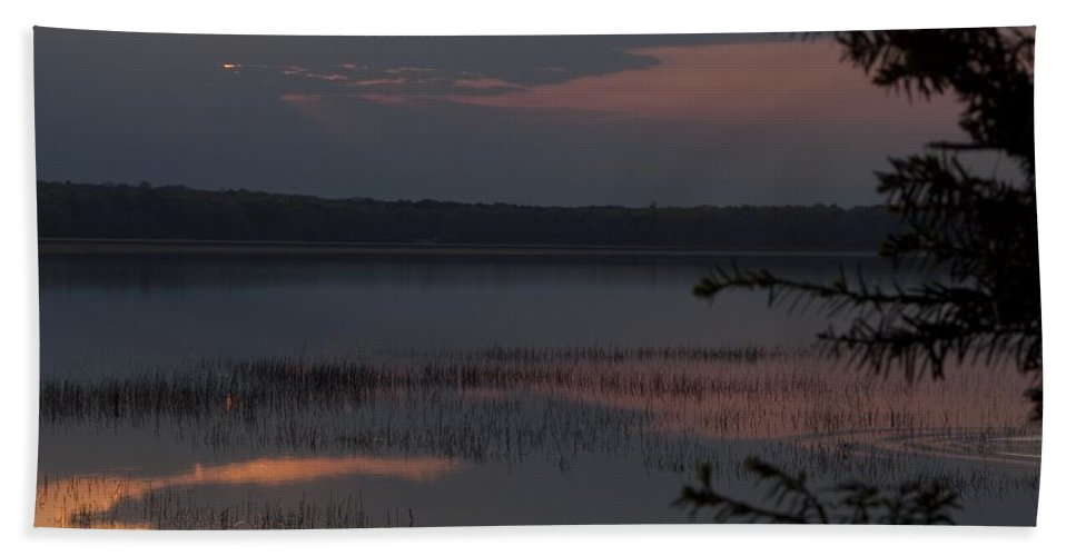 Sunrise Bath Sheet featuring the photograph Worden's Pond Sunrise 2 by Steven Natanson