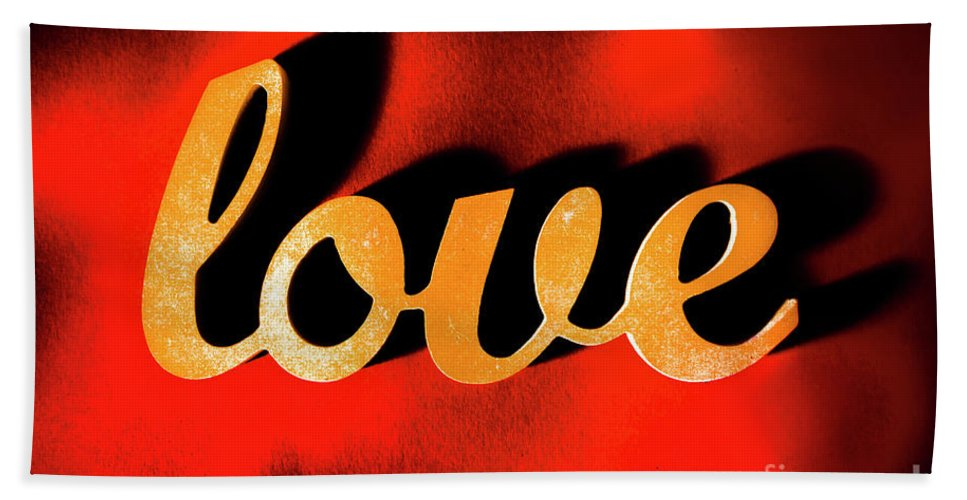 Retro Bath Towel featuring the photograph Words Of Love And Retro Romance by Jorgo Photography - Wall Art Gallery
