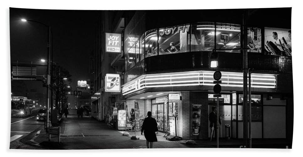 People Bath Towel featuring the photograph Workout The Night, Tokyo Japan by Perry Rodriguez