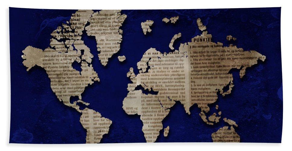 Europe Bath Sheet featuring the photograph World News by Randi Grace Nilsberg