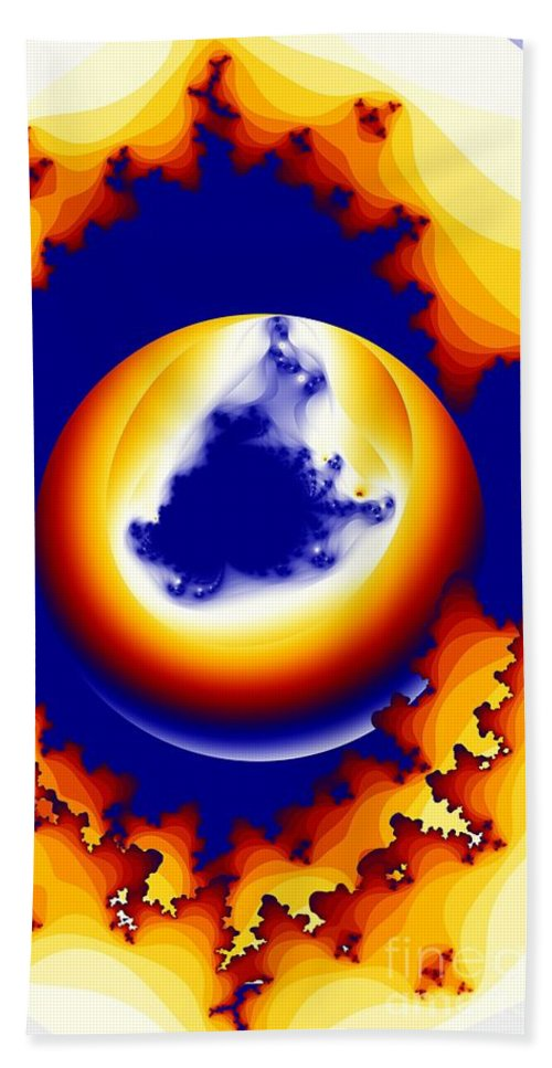 Worm Hole Hand Towel featuring the digital art Worm Hole To A New World by Ron Bissett