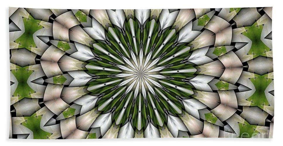 Abstract Bath Sheet featuring the digital art Woven Circle by Ron Bissett
