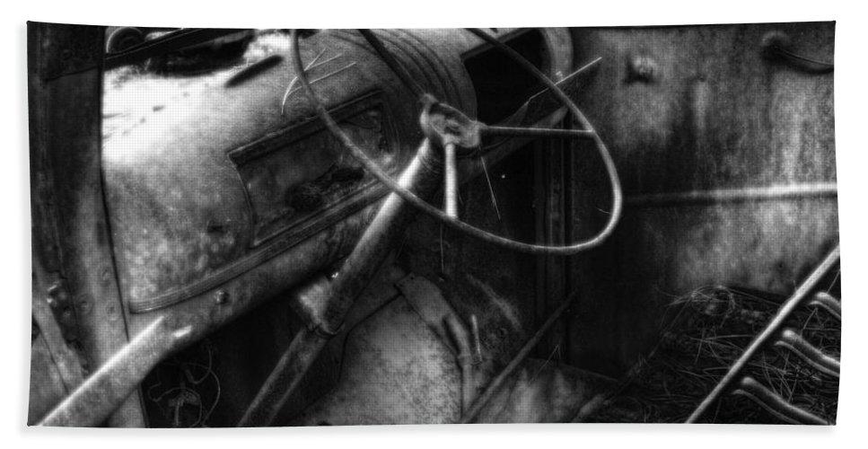 Automotive Hand Towel featuring the photograph Wrecking Yard Study 10 by Lee Santa
