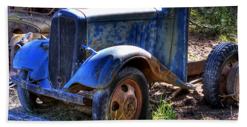 Automotive Bath Sheet featuring the photograph Wrecking Yard Study 15 by Lee Santa