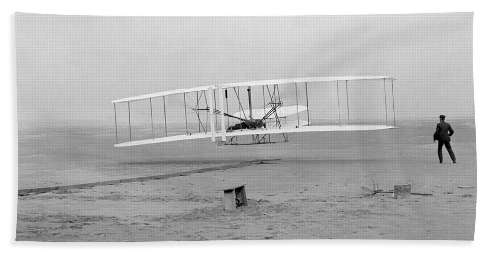 1903 Bath Sheet featuring the photograph Wright Brothers, 1903 by Granger