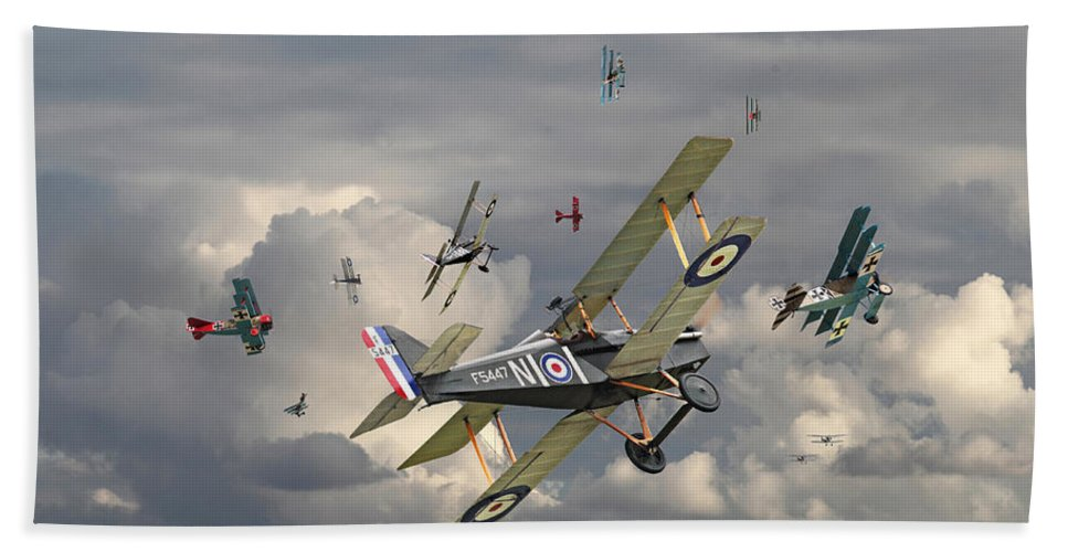 Aircraft Hand Towel featuring the photograph Ww1 - 'wings' by Pat Speirs