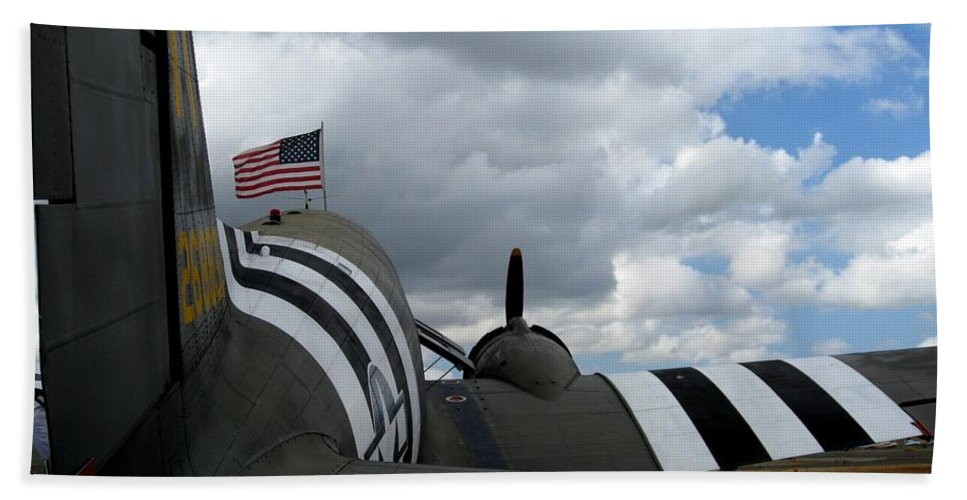 Wwii Hand Towel featuring the photograph Douglas C-47 Skytrain 1 by Marta Robin Gaughen