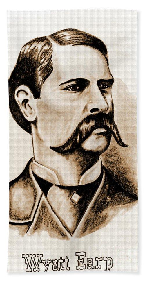 Gun Hand Towel featuring the photograph Wyatt Earp by Gary Wonning