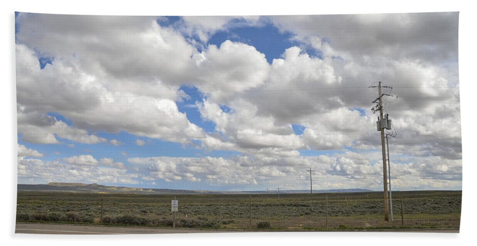Wyoming Hand Towel featuring the photograph Wyoming Pet Area by Erik Burg