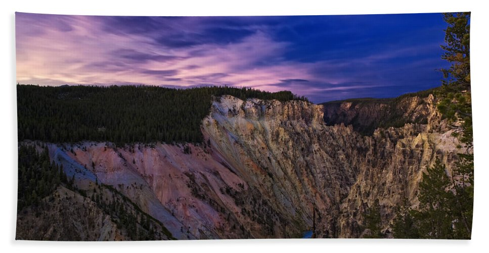 Nature Hand Towel featuring the photograph Wyoming Sunset by John K Sampson