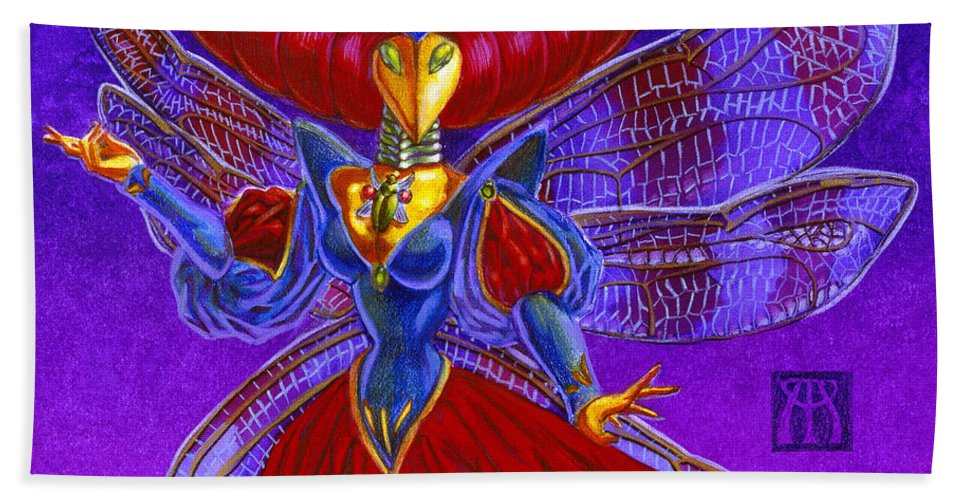 Magic The Gathering Hand Towel featuring the painting Xira Arien by Melissa A Benson