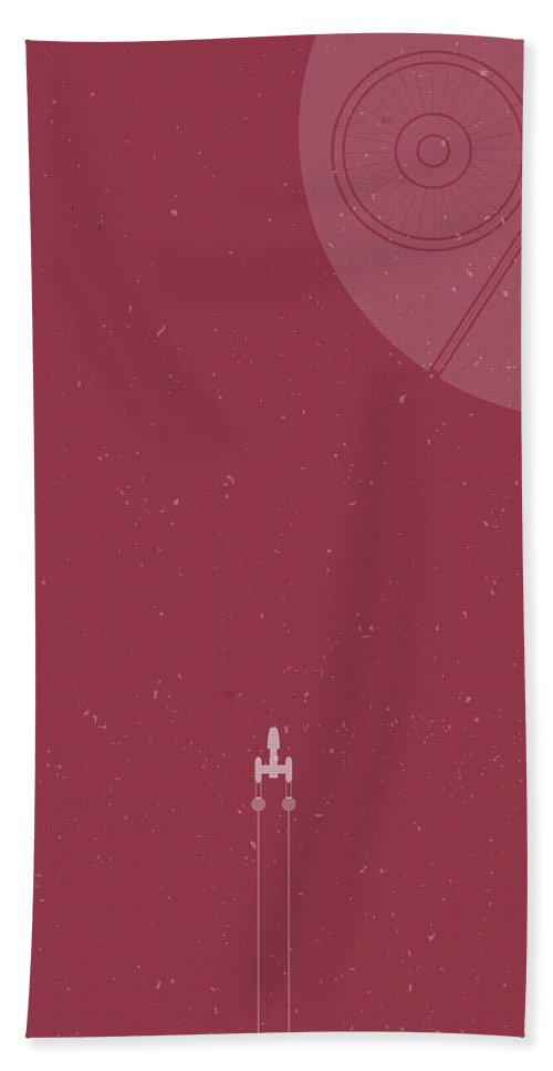 Y-wing Bath Towel featuring the photograph Y-wing Bomber Meets Death Star by Samuel Whitton