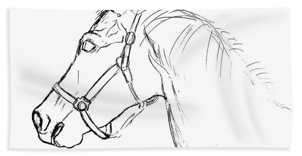 Horse Bath Sheet featuring the photograph Yearling White by JAMART Photography
