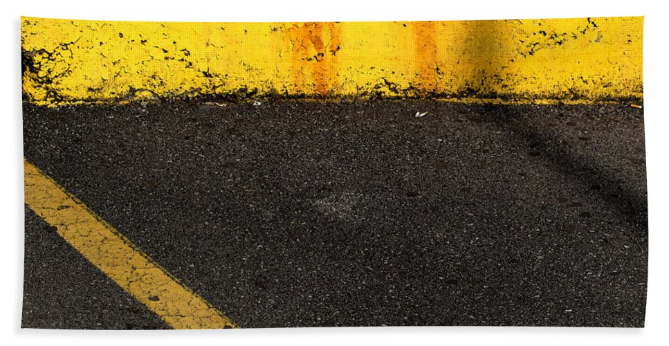 Yellow Hand Towel featuring the photograph Yellow And Grey Wc by Lyle Crump