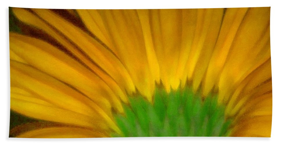 Hand Towel featuring the photograph Yellow by Andre Giovina