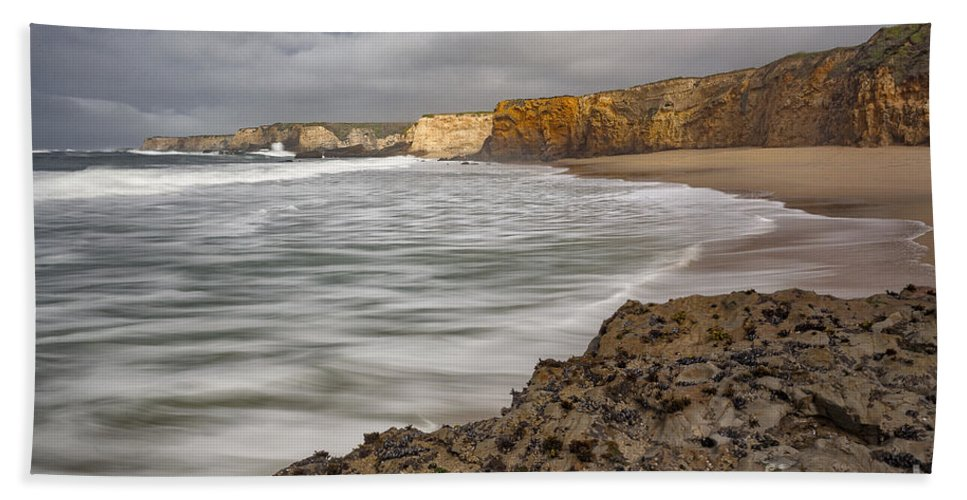 California Hand Towel featuring the photograph Yellow Bank Cliffs by Richard Sandford