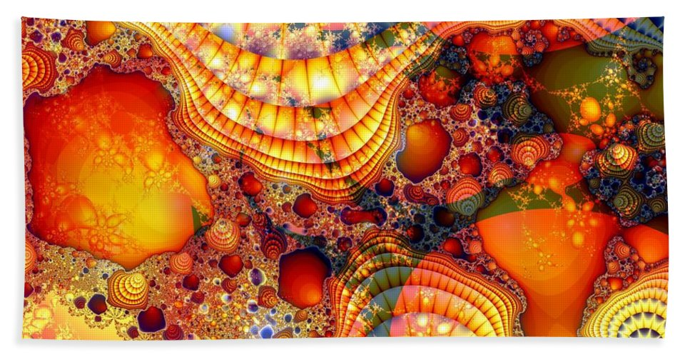 Fractal Bath Towel featuring the digital art Yellow Brick Roads by Ron Bissett