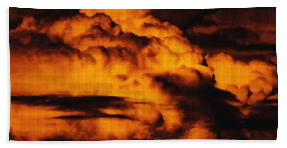Cloud Hand Towel featuring the digital art Clouds Time by Max Steinwald