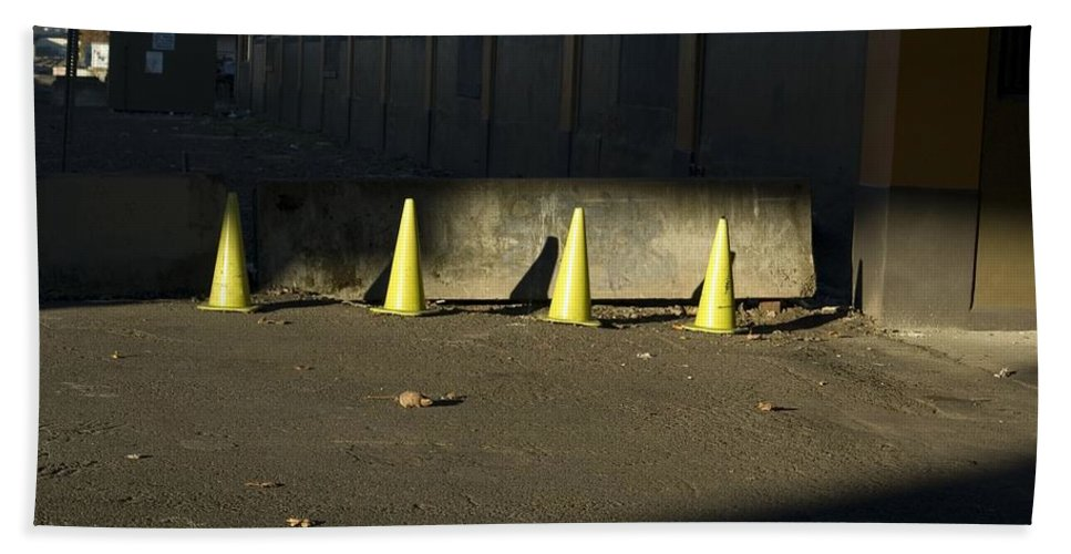 Cone Bath Sheet featuring the photograph Yellow Cones by Sara Stevenson