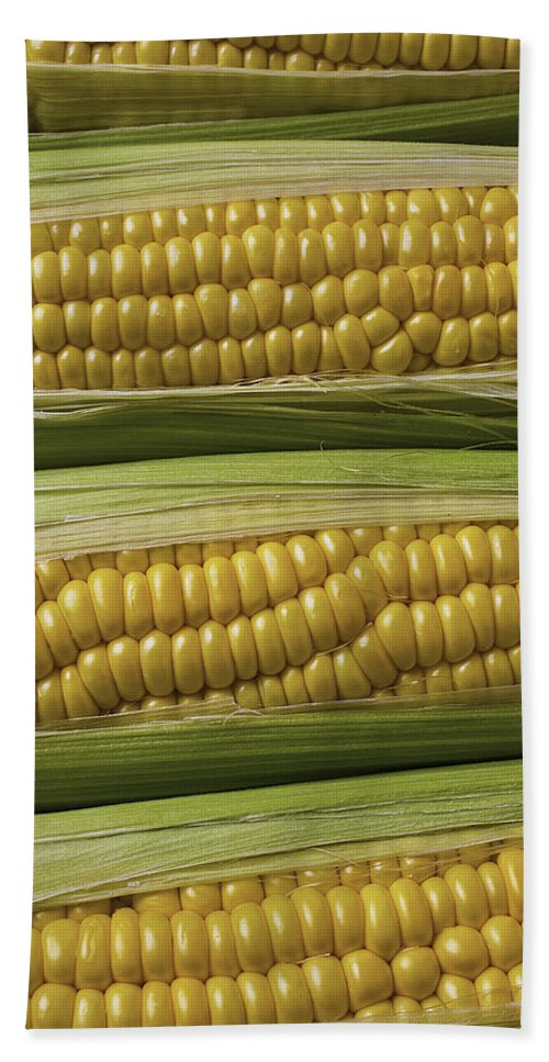 Yellow Corn Hand Towel featuring the photograph Yellow Corn by Garry Gay