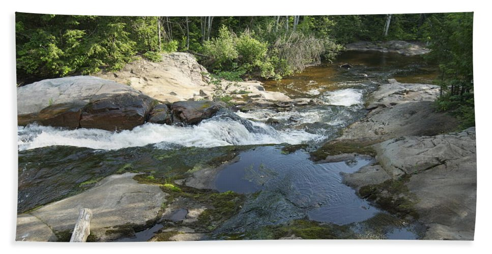 Landscape Hand Towel featuring the photograph Yellow Dog Falls 5 by Michael Peychich