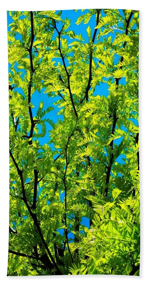 Nature Hand Towel featuring the photograph Yellow ... by Juergen Weiss